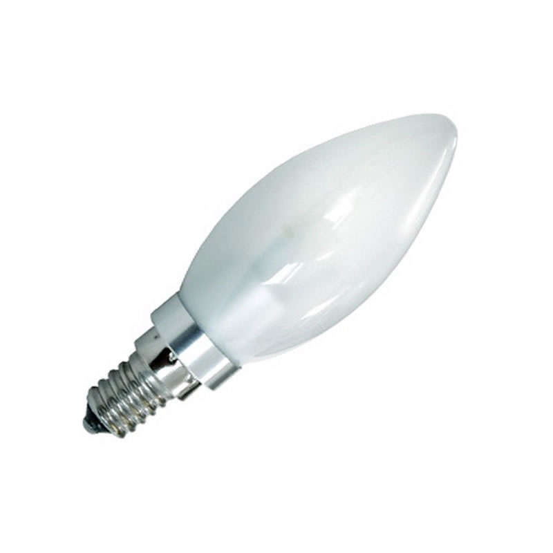Bombilla LED E14 Vela frost 3W regulable, Blanco neutro, Regulable